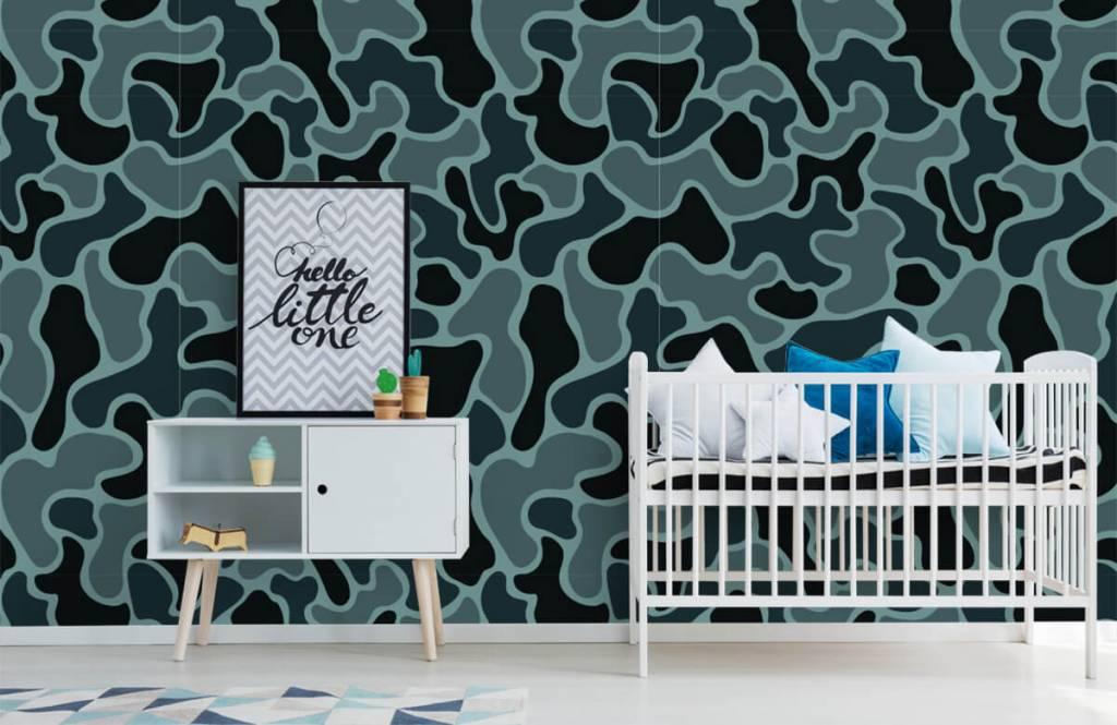 Autre - Camouflage vert gris - Chambre d'enfants 2