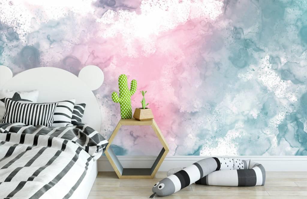 Abstrait - Fumée rose verte - Chambre d'adolescent 7