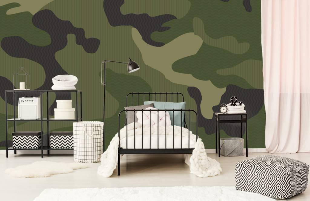 Papier peint enfants - Camouflage vert - Chambre d'enfants 1