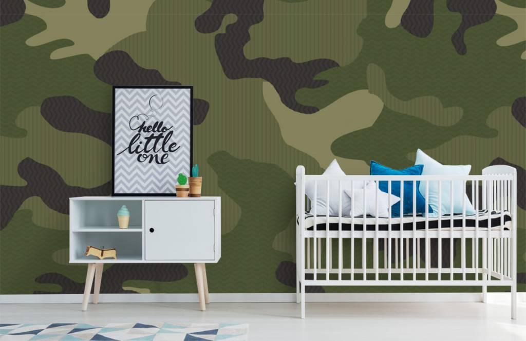 Papier peint enfants - Camouflage vert - Chambre d'enfants 2
