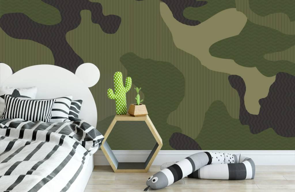 Papier peint enfants - Camouflage vert - Chambre d'enfants 3