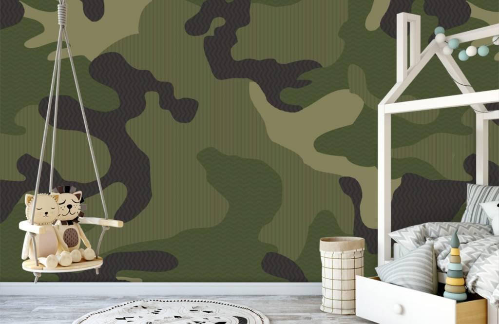 Papier peint enfants - Camouflage vert - Chambre d'enfants 4