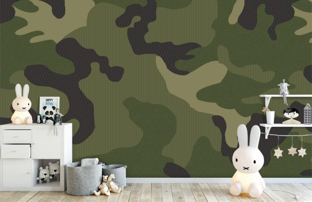 Papier peint enfants - Camouflage vert - Chambre d'enfants 5