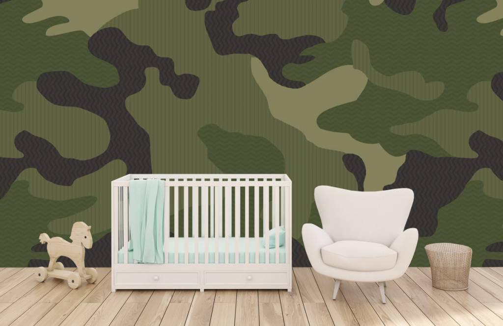 Papier peint enfants - Camouflage vert - Chambre d'enfants 6