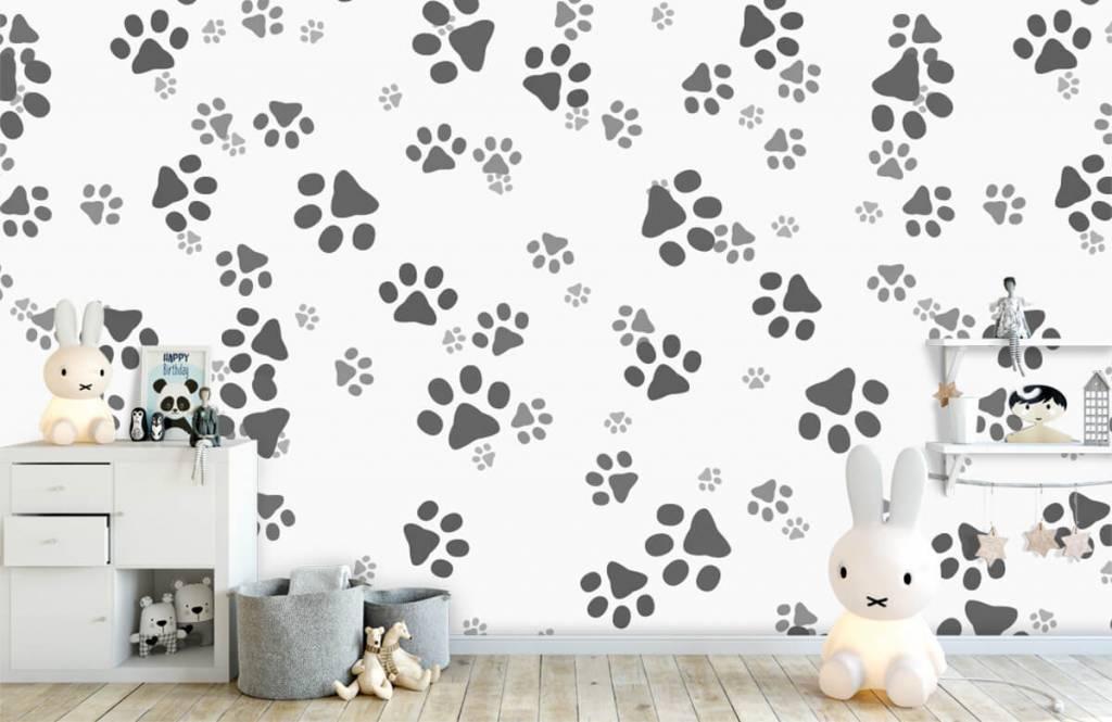 Papier peint enfants - Jambes de chien - Chambre d'enfants 1