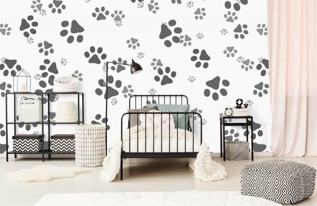 Papier peint enfants - Jambes de chien - Chambre d'enfants 2