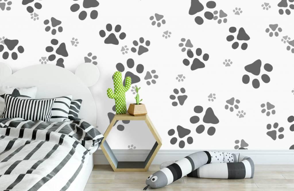 Papier peint enfants - Jambes de chien - Chambre d'enfants 3