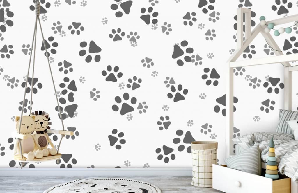 Papier peint enfants - Jambes de chien - Chambre d'enfants 4