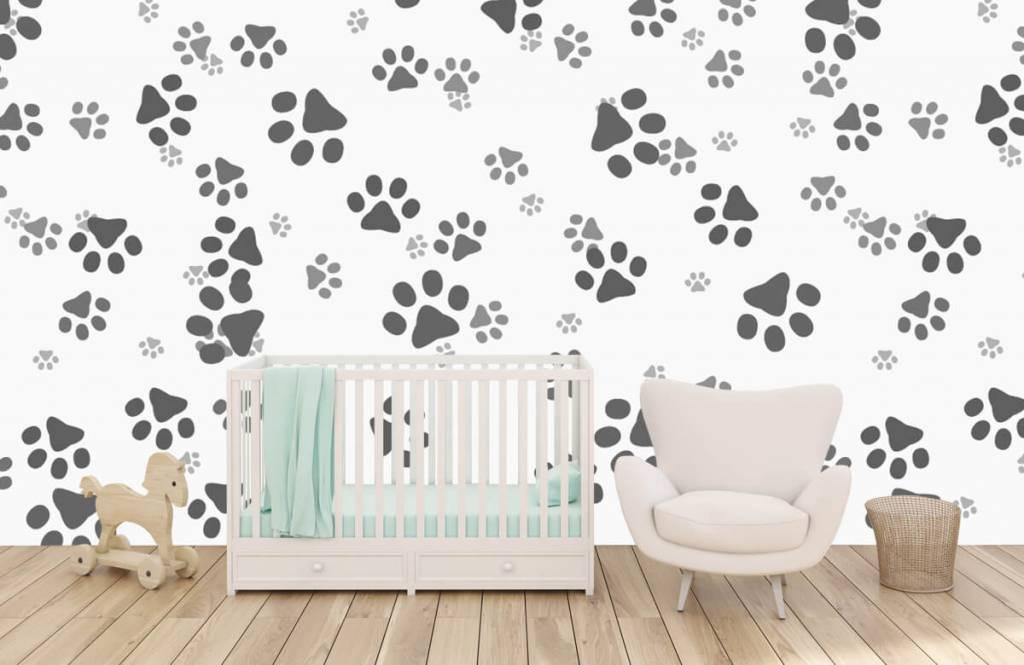 Papier peint enfants - Jambes de chien - Chambre d'enfants 5
