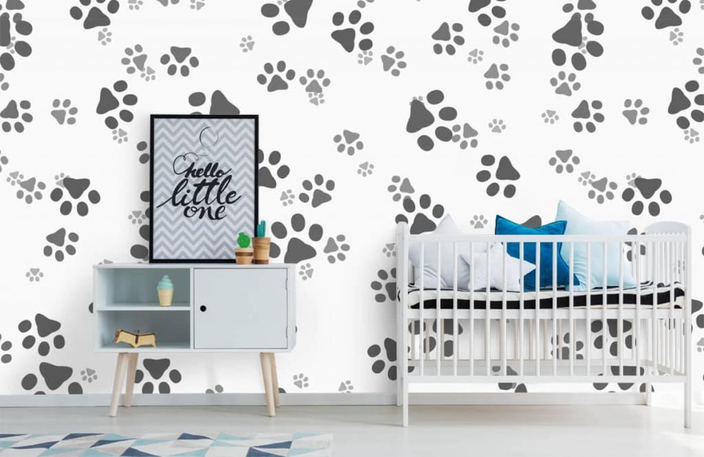 Papier peint enfants - Jambes de chien - Chambre d'enfants 6