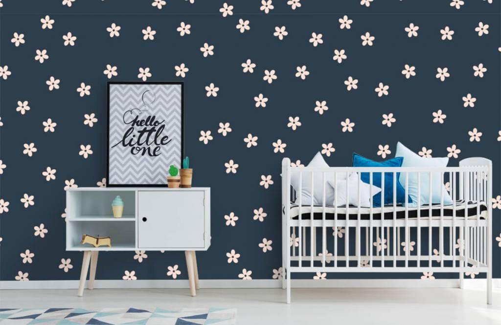 Motifs chambre d'enfants - Petites fleurs roses - Chambre d'enfants 1