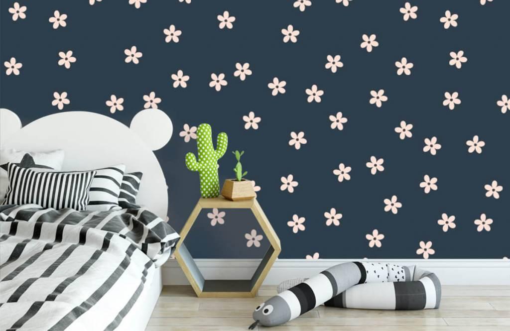 Motifs chambre d'enfants - Petites fleurs roses - Chambre d'enfants 3