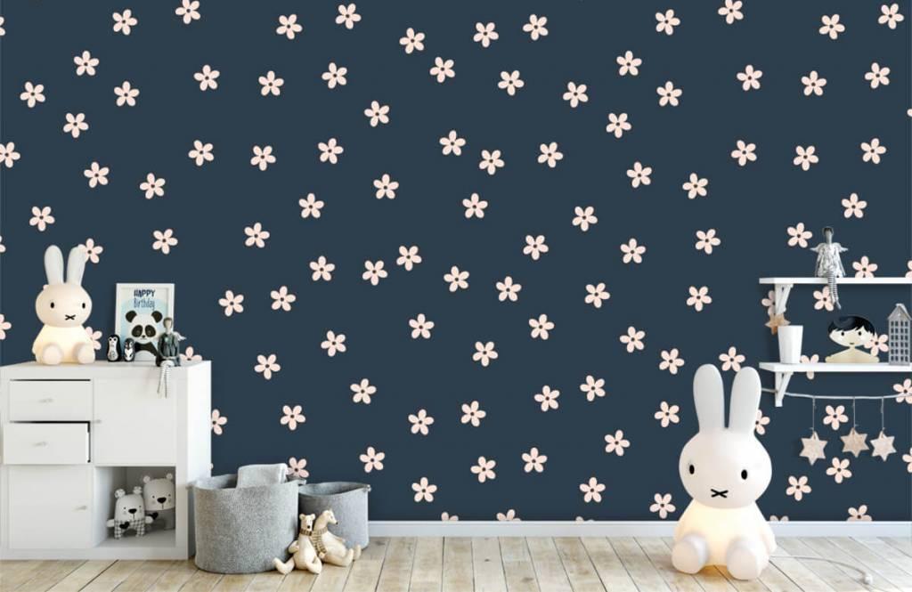 Motifs chambre d'enfants - Petites fleurs roses - Chambre d'enfants 5