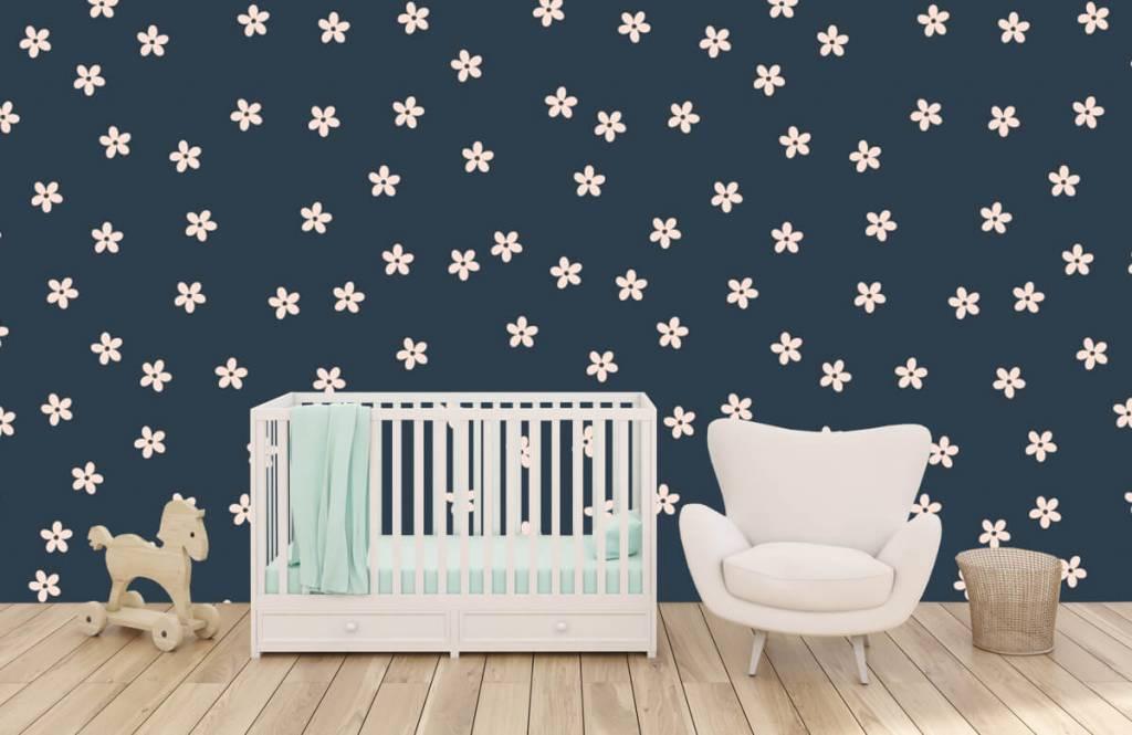Motifs chambre d'enfants - Petites fleurs roses - Chambre d'enfants 6