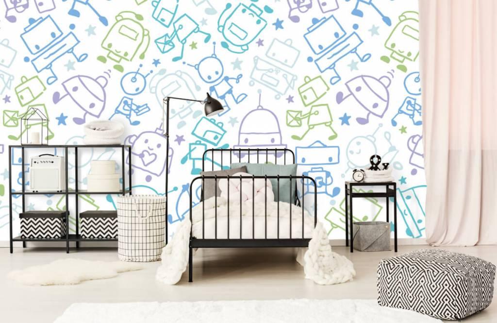 Papier peint enfants - Espace coloré mâles - Chambre d'enfants 2