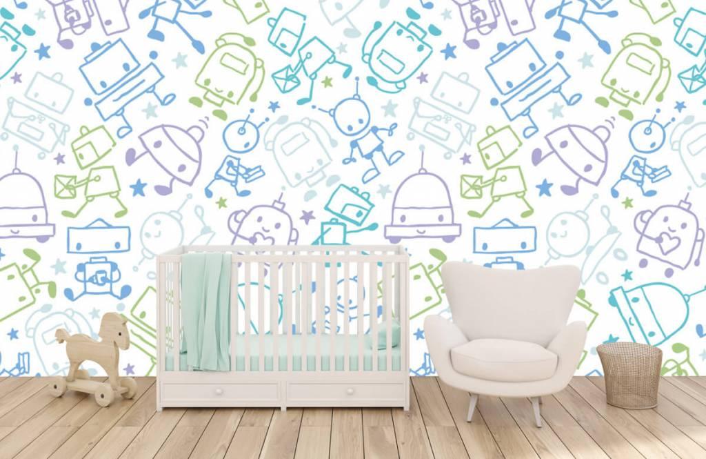 Papier peint enfants - Espace coloré mâles - Chambre d'enfants 5