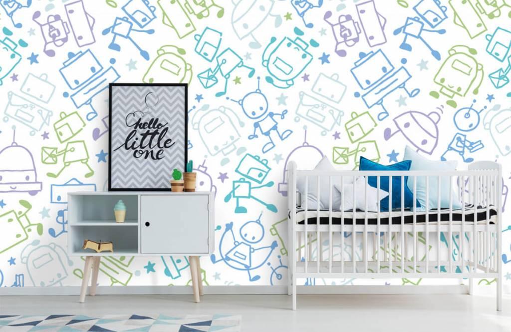 Papier peint enfants - Espace coloré mâles - Chambre d'enfants 6