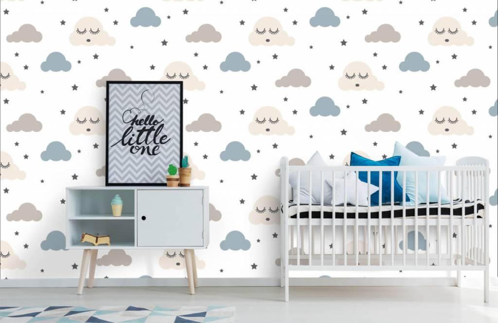 Papier peint bébé - Nuages dormants - Chambre de bébé 1