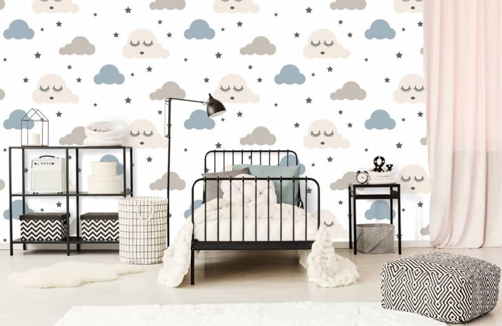 Papier peint bébé - Nuages dormants - Chambre de bébé 2