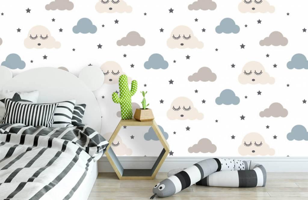 Papier peint bébé - Nuages dormants - Chambre de bébé 3