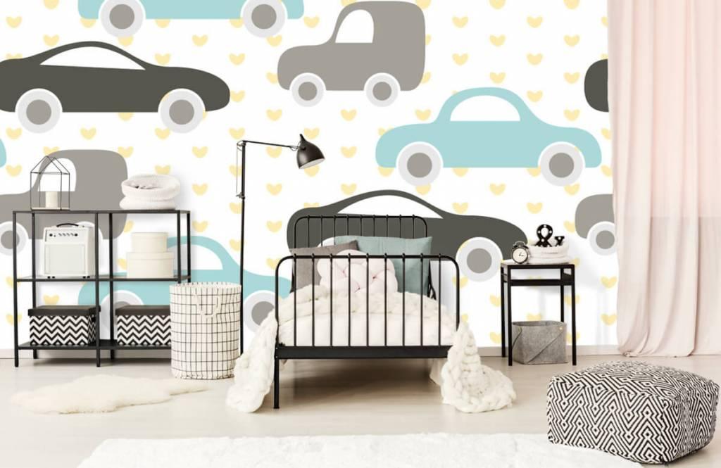 Papier peint bébé - Jouet Voitures - Chambre de bébé 2