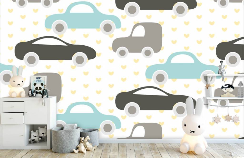 Papier peint bébé - Jouet Voitures - Chambre de bébé 4