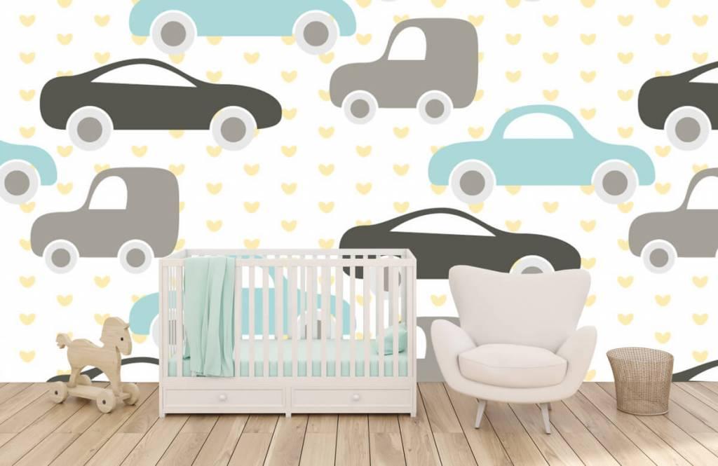 Papier peint bébé - Jouet Voitures - Chambre de bébé 5