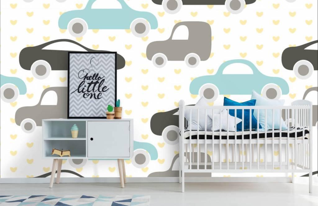 Papier peint bébé - Jouet Voitures - Chambre de bébé 6