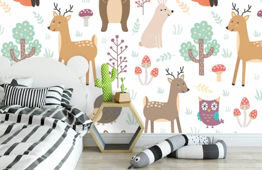 Papier peint enfants - Divers animaux - Chambre d'enfants 1