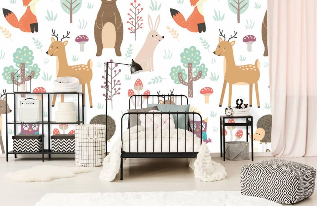 Papier peint enfants - Divers animaux - Chambre d'enfants 2