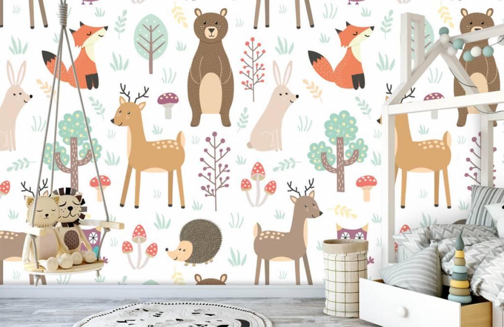 Papier peint enfants - Divers animaux - Chambre d'enfants 3
