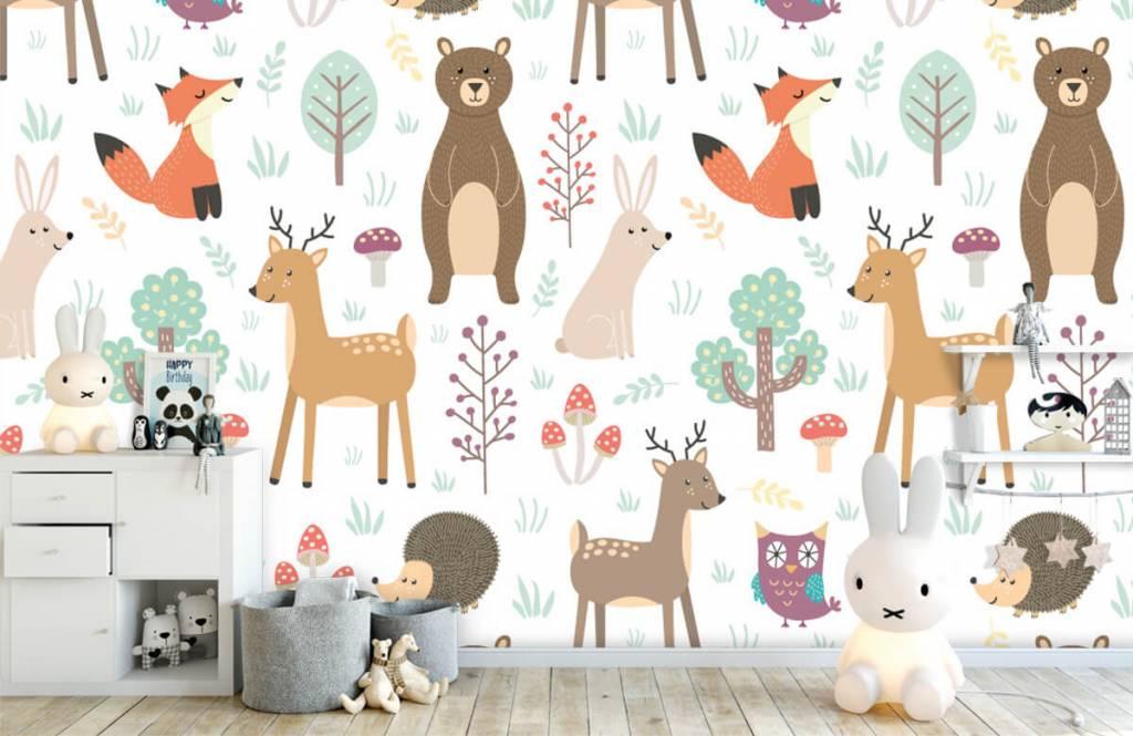 Papier peint enfants - Divers animaux - Chambre d'enfants 4
