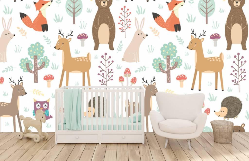 Papier peint enfants - Divers animaux - Chambre d'enfants 5
