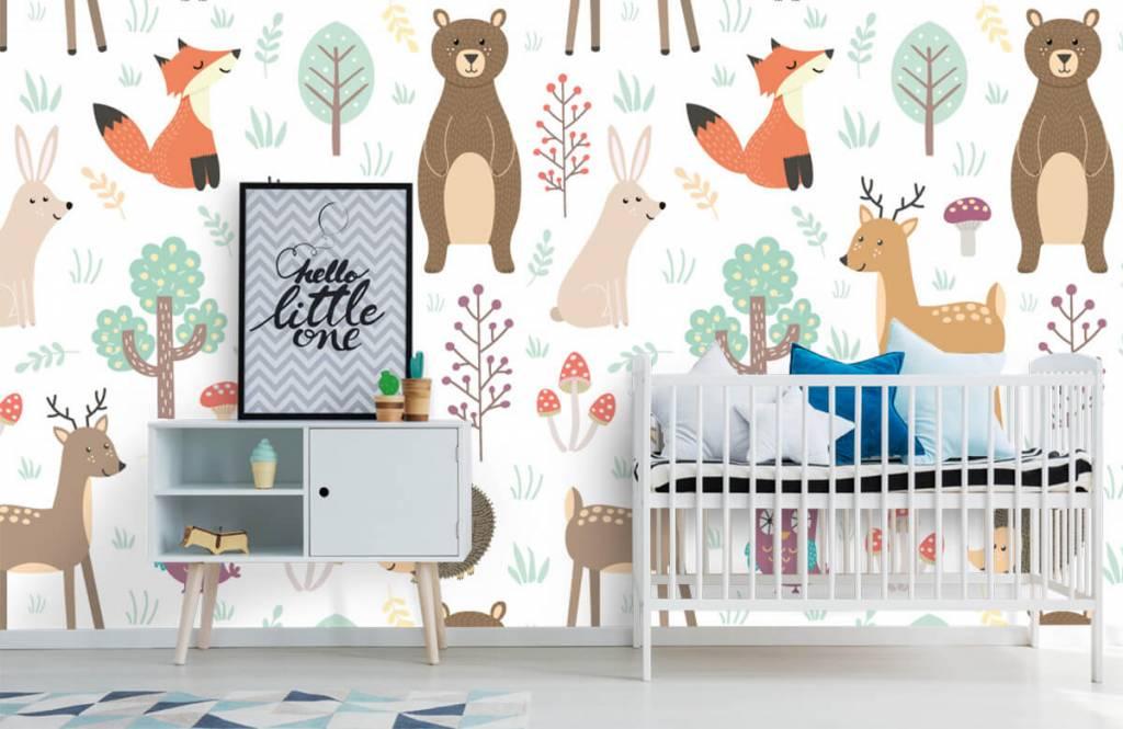 Papier peint enfants - Divers animaux - Chambre d'enfants 6