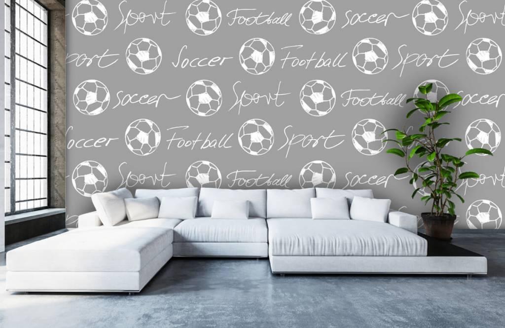 Papier peint de football - Ballons de football et texte - Chambre d'enfants 5