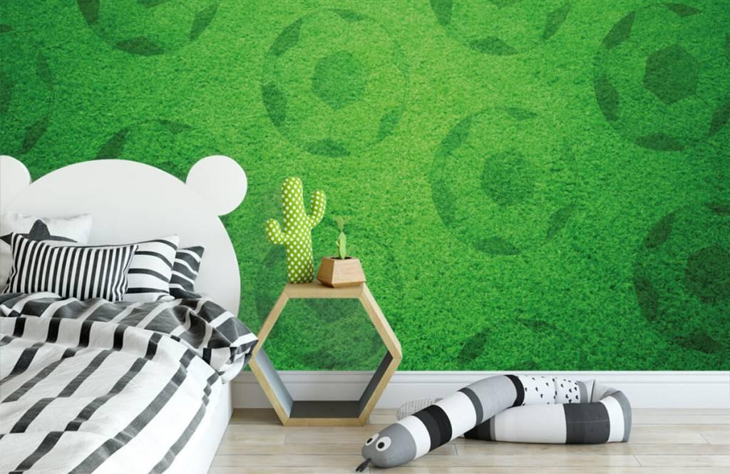 Papier peint de football - Jouer au football sur l'herbe - Chambre d'enfants 2