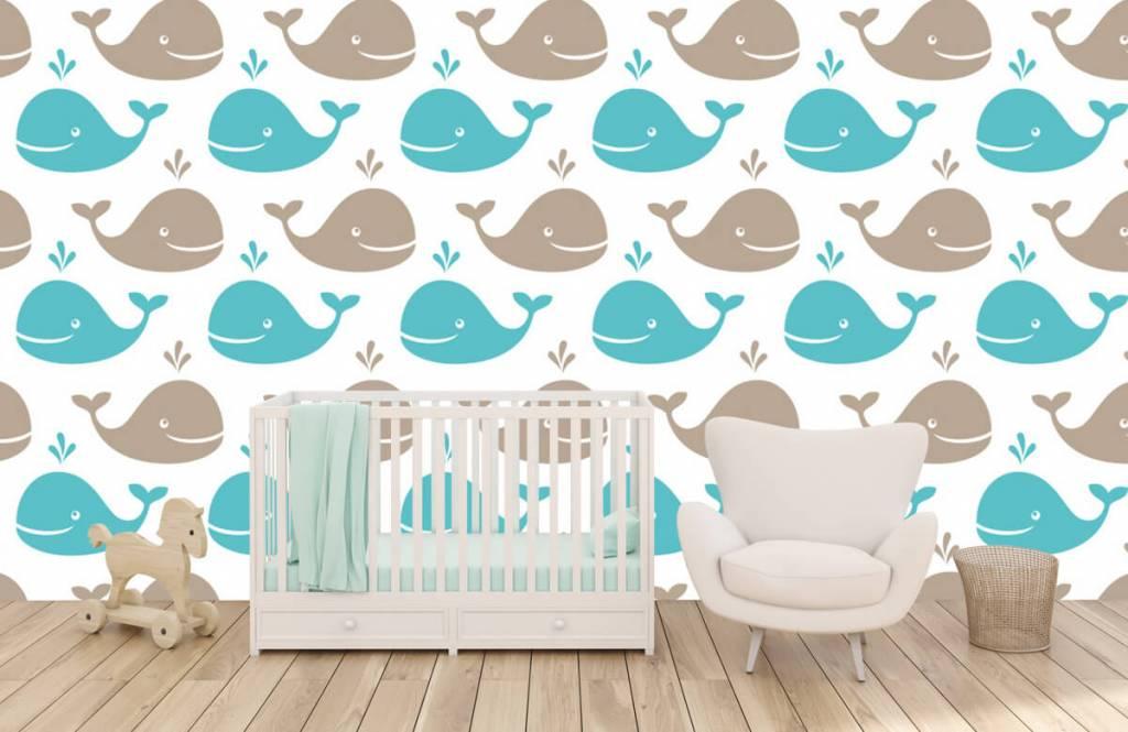 Animaux aquatiques - Baleines - Chambre d'enfants 1