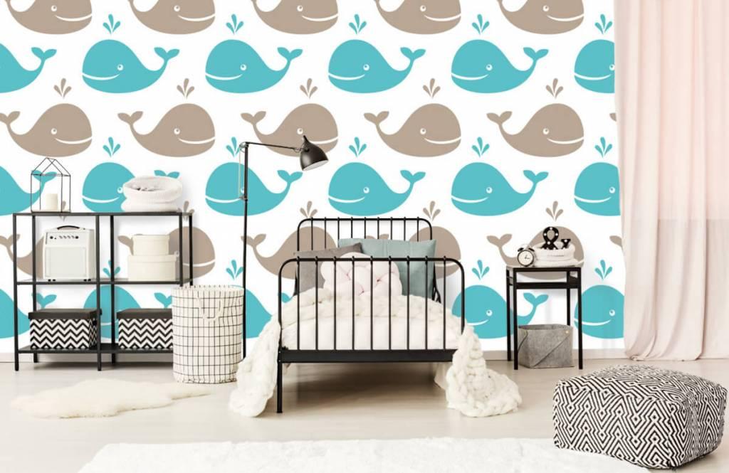 Animaux aquatiques - Baleines - Chambre d'enfants 2