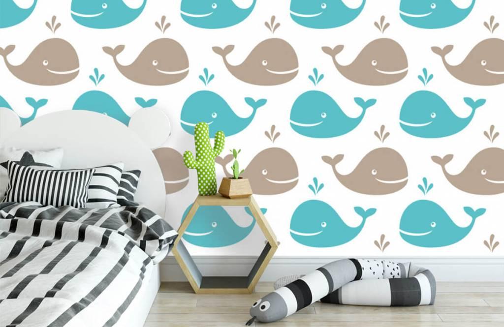 Animaux aquatiques - Baleines - Chambre d'enfants 3