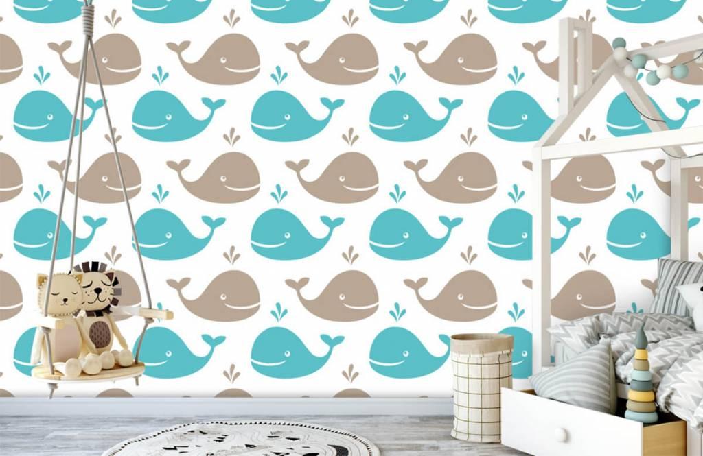 Animaux aquatiques - Baleines - Chambre d'enfants 4
