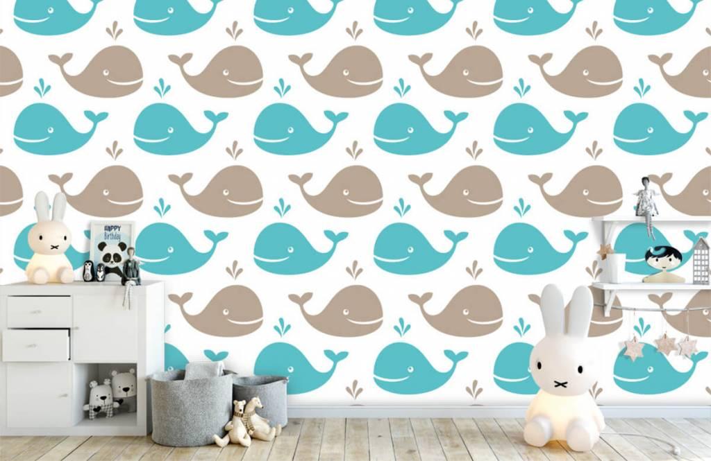 Animaux aquatiques - Baleines - Chambre d'enfants 5