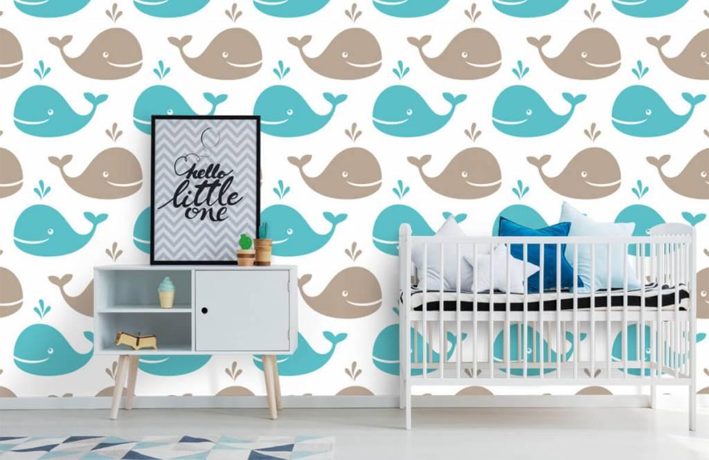 Animaux aquatiques - Baleines - Chambre d'enfants 6