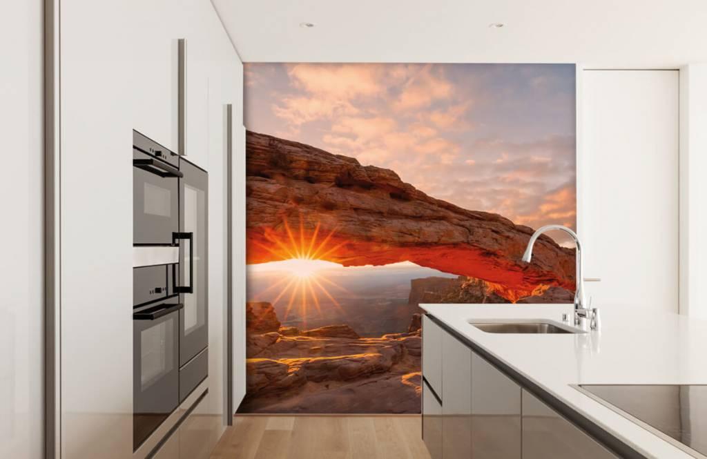 Montagnes - Coucher de soleil sous les rochers - Chambre à coucher 3