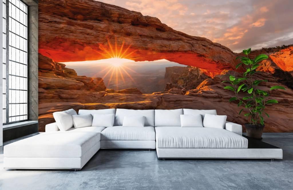 Montagnes - Coucher de soleil sous les rochers - Chambre à coucher 5
