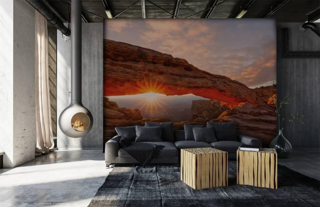 Montagnes - Coucher de soleil sous les rochers - Chambre à coucher 6