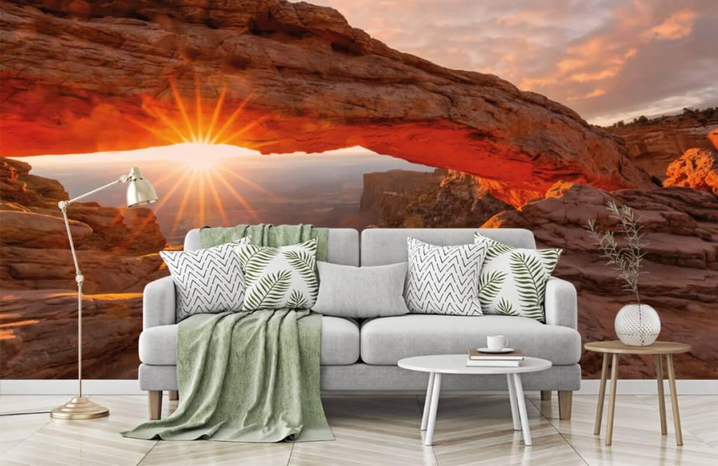 Montagnes - Coucher de soleil sous les rochers - Chambre à coucher 7
