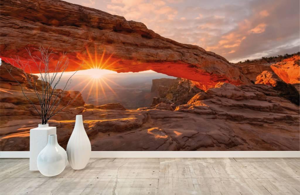 Montagnes - Coucher de soleil sous les rochers - Chambre à coucher 8