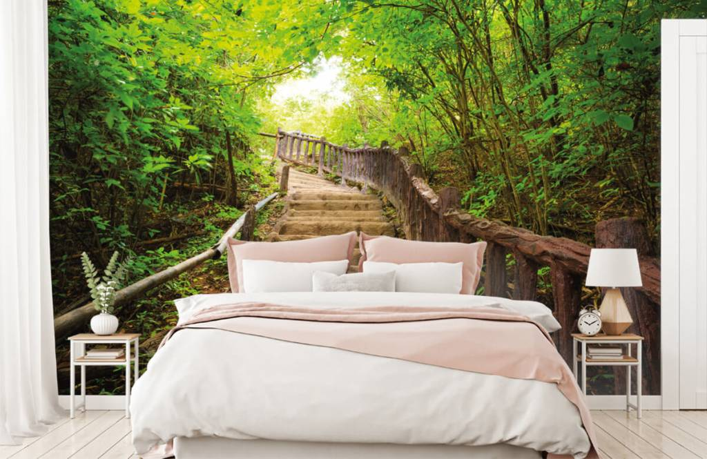Papier peint de la forêt - Escalier en forêt - Chambre à coucher 2