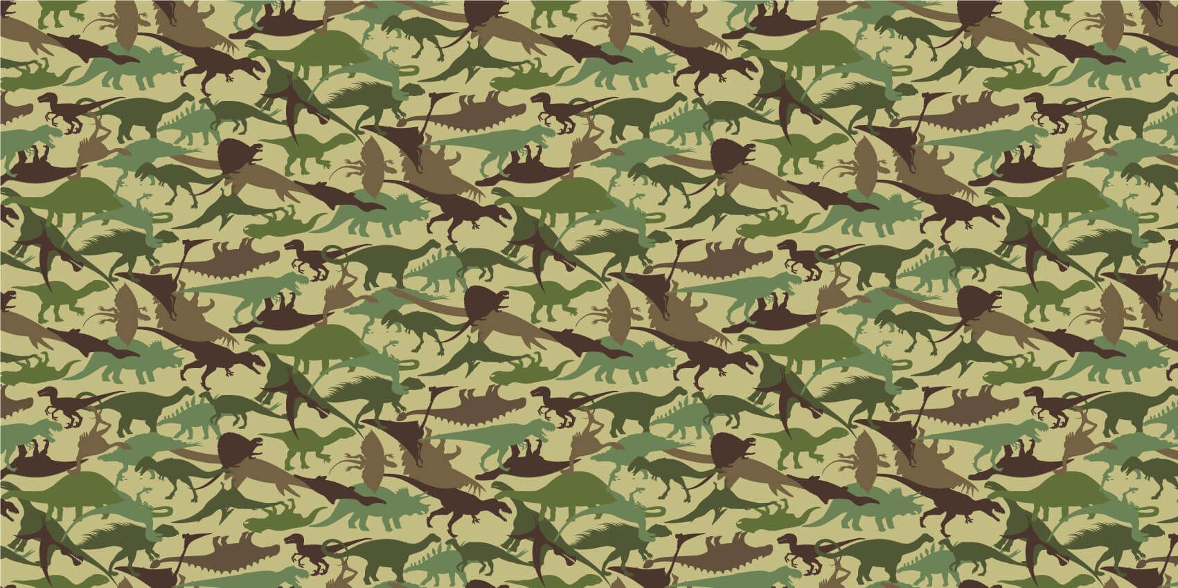 Dinosaures - Dino camouflage - Chambre d'enfants
