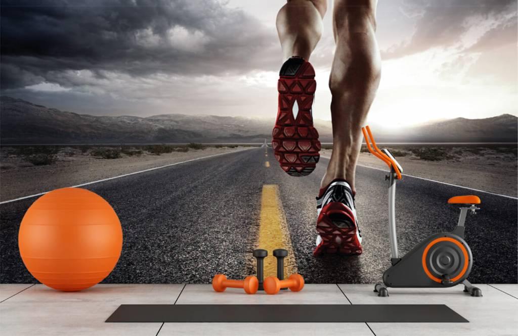 Sport et Fitness - Jambes d'un coureur - Entrepôt 2